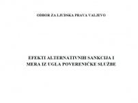 Efekti alternativnih sankcija i mera iz ugla povereničke službe